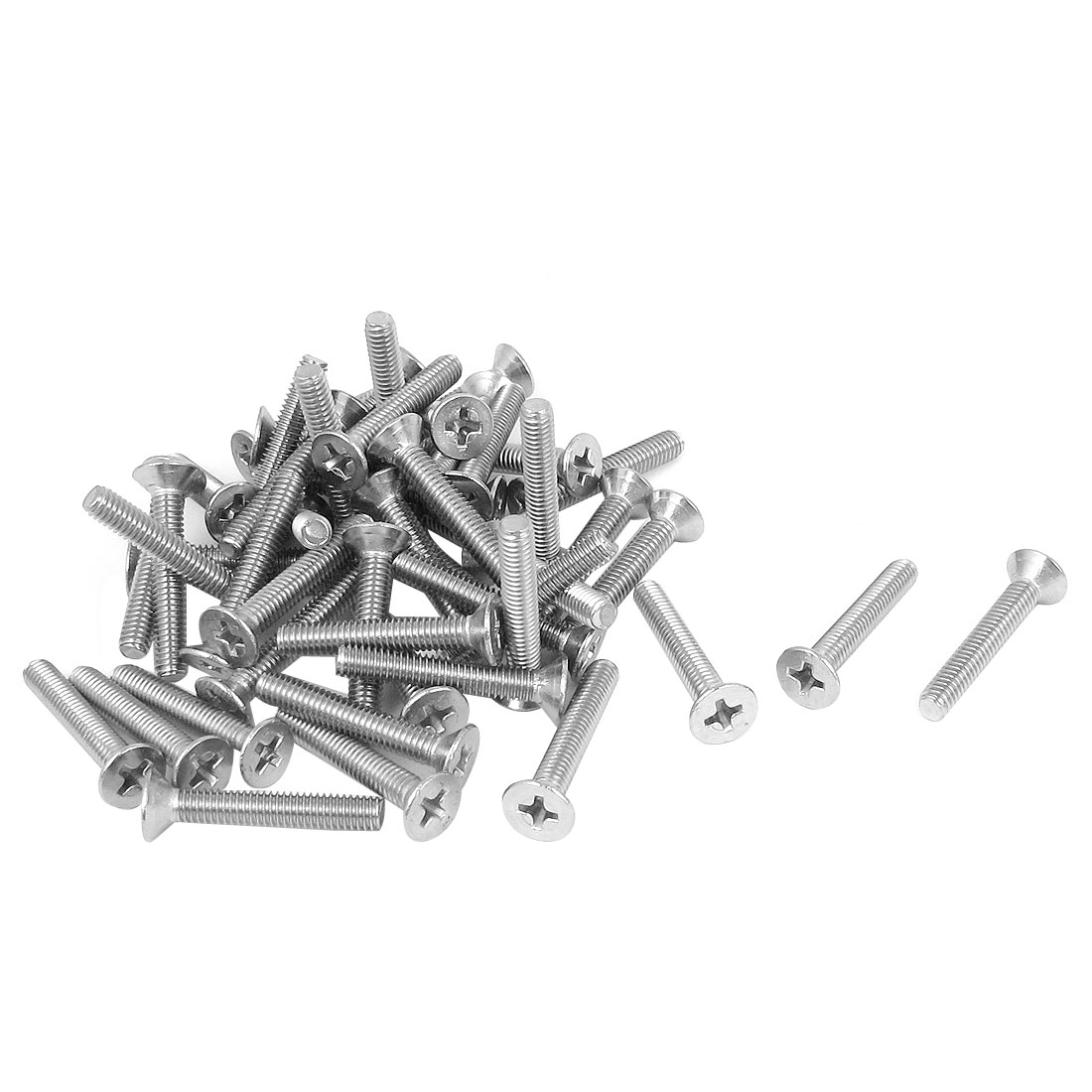 M4 x 25mm Metric Phillips Flat Head Countersunk Bolts Machine Screws 50pcs