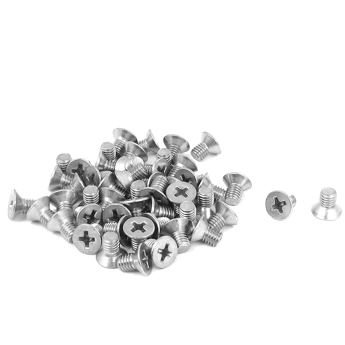 M5 x 8mm Metric Phillips Flat Head Countersunk Bolts Machine Screws 50pcs