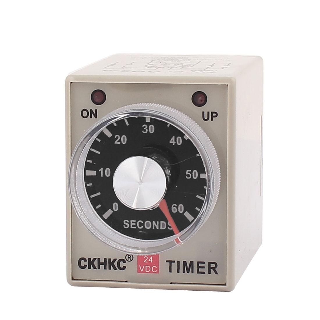 AH3-3 0-60 Sec 8 Terminals Adjustable Time Delay Timer DC 24V