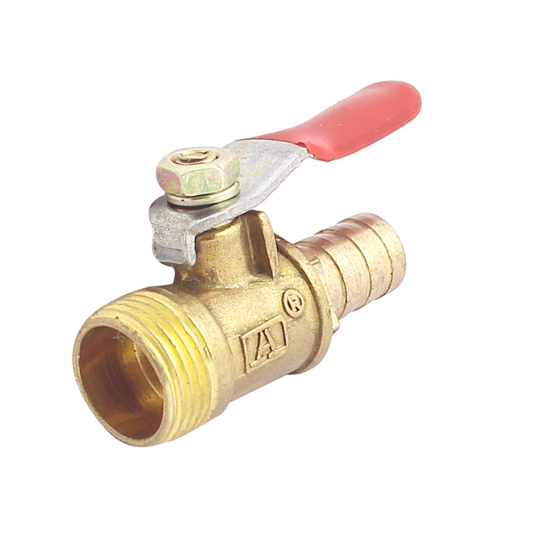 Water Coal Gas 3/8BSP Threaded 10mm Barb Brass Ball Valve