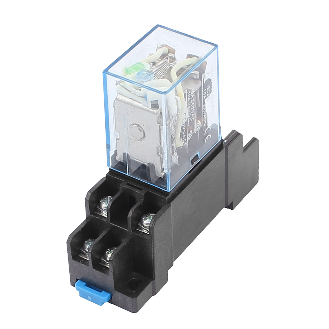 DC 12V 10A Coil Electromagnetic Power Relay Socket w DTF08A Base