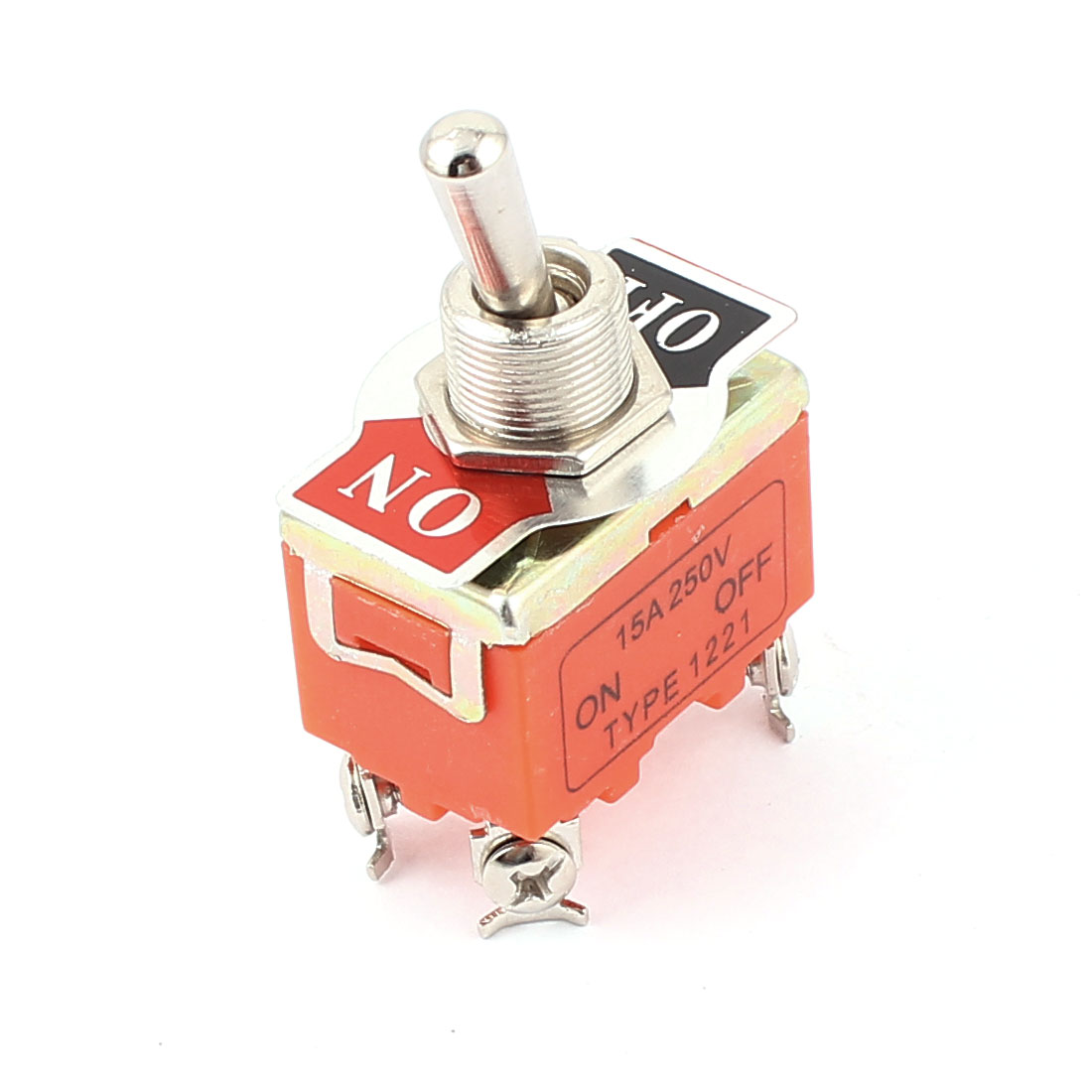AC 250V 15A 4 Terminals ON/OFF DPST Miniature Toggle Switch