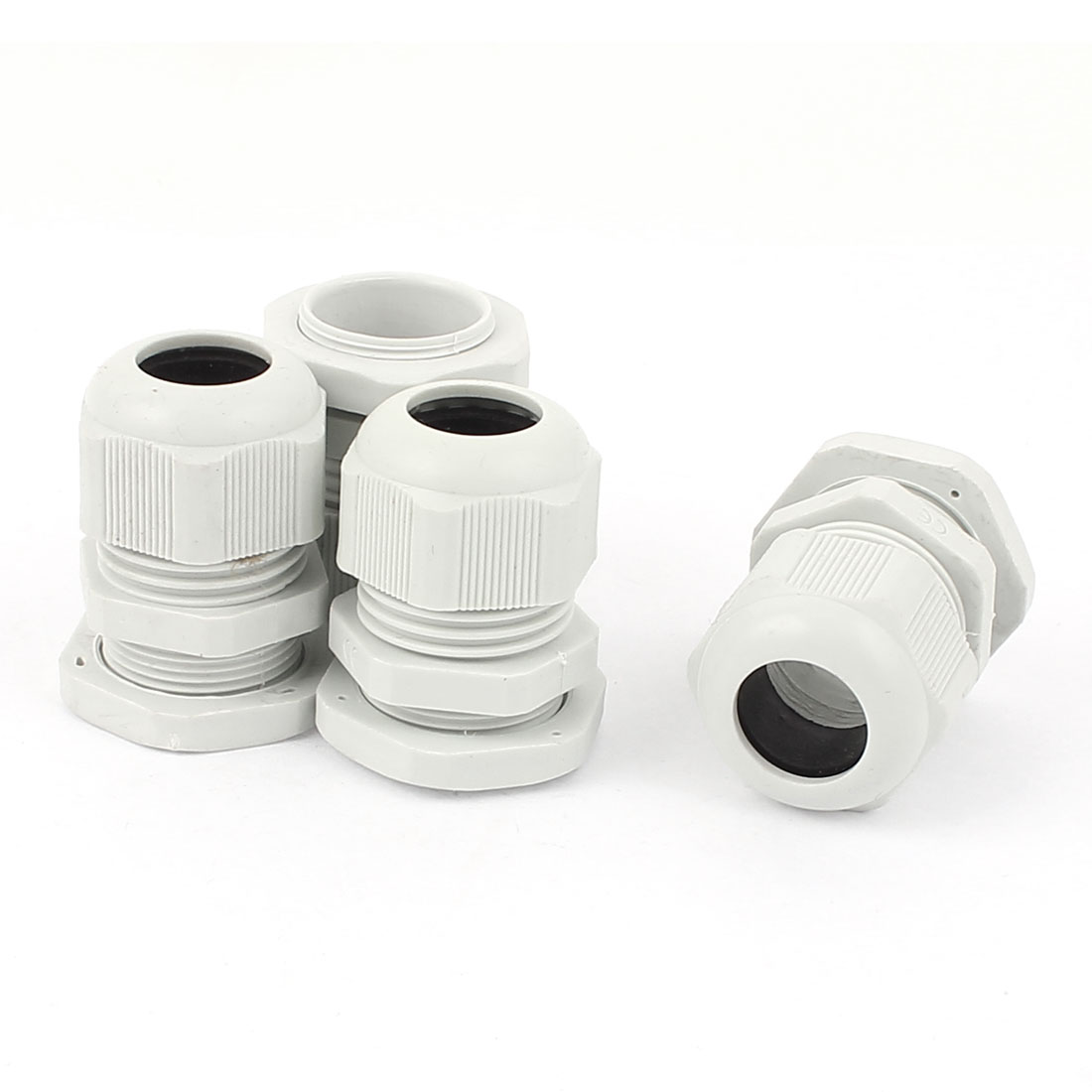 4pcs Waterproof PG21 13-18mm Cable Gland Connector White