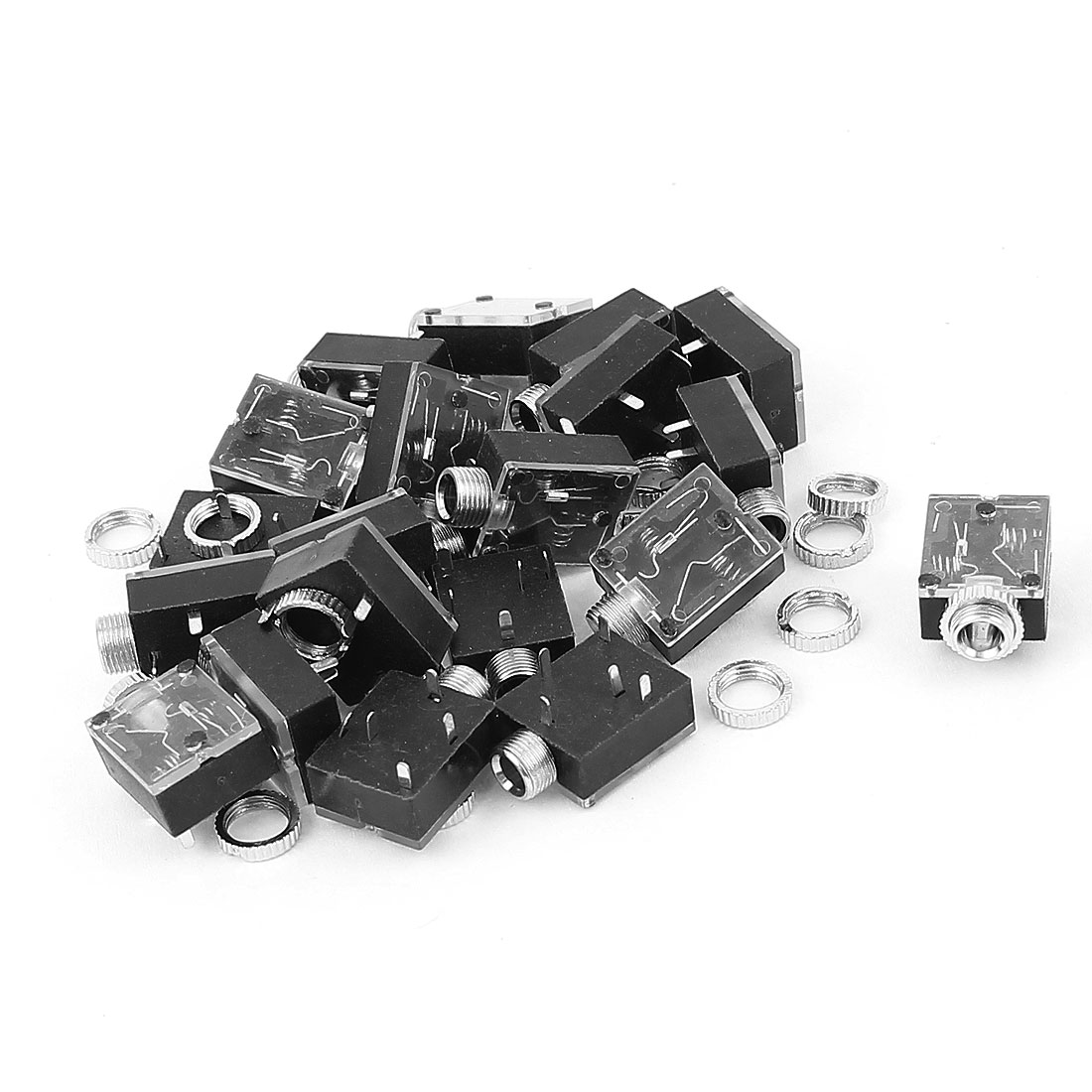 18pcs 5Pin 3.5mm Female Stereo Audio Jack PCB Mount Connector