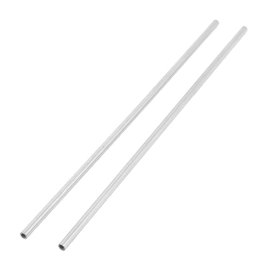 Round Stainless Steel Rod Bar Shaft Silver Tone 3x150mm 2pcs