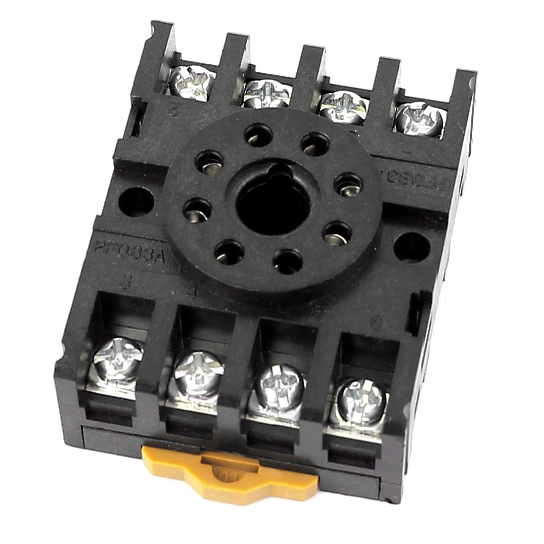 PF083A 12A AC 300V 8 Round Pin Rail Mount Power Relay Socket Base
