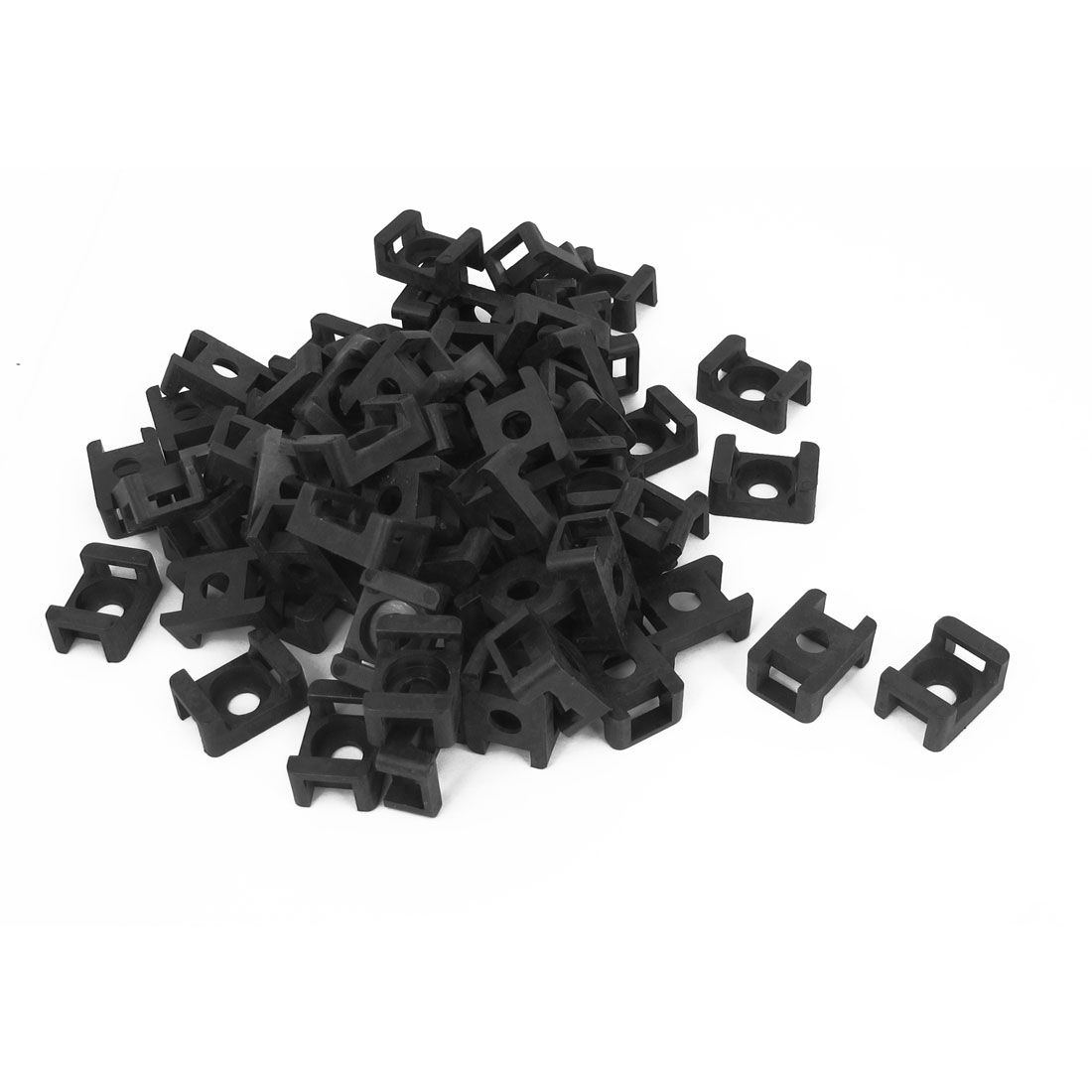120 Pcs Plastic Wire Cable Tie Screw Fit Saddle Mountings 9mm Max Width