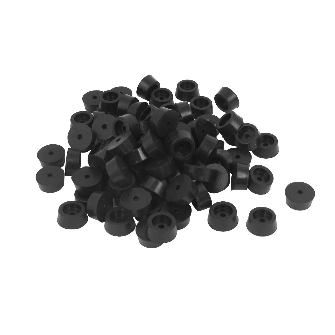 123pcs Nonslip Rubber Feet Protector 18mmx8mm Black for Lathe Machine Furniture