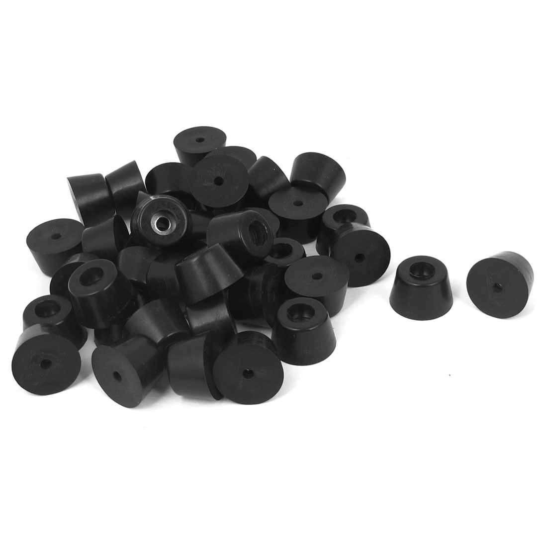40pcs Nonslip Rubber Feet Protector 24mmx15mm Black for Lathe Machine Furniture