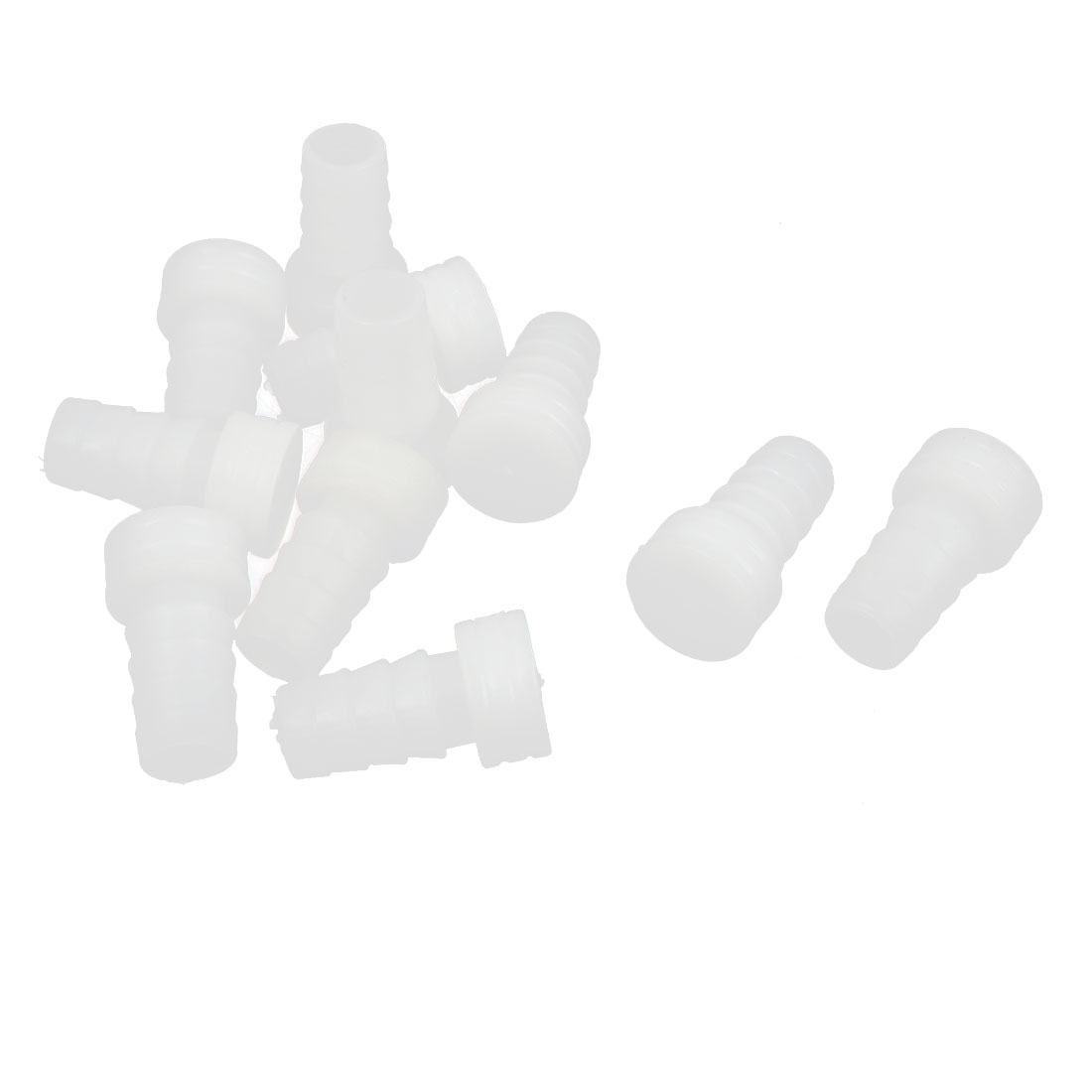 10 Pcs Plastic Pipe End Blanking Caps Bung Tube Tubing Insert Plugs White