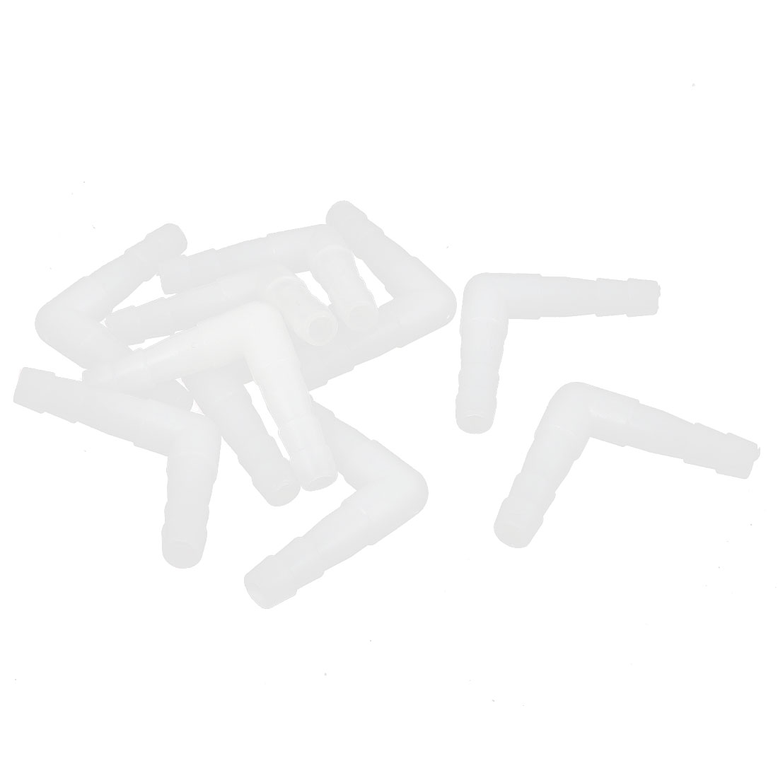 10 Pcs L Shaped Air Line Tubing Water Tube Valve White for Fish Tank Aquarium