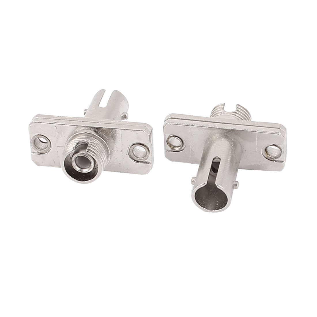 FC-ST Type Optical Cable Connector Flange Adapter Fiber Coupler 2Pcs