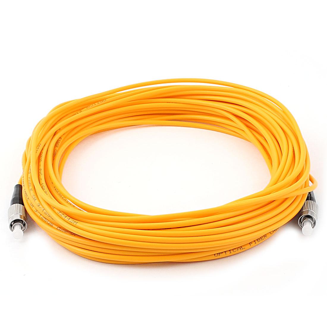15M 49Ft Jumper Cable Simplex Singlemode FC-FC Fiber Optic Patch Cord