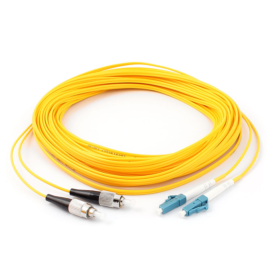 15M 49Ft Jumper Cable Duplex Singlemode LC-FC Fiber Optic Patch Cord