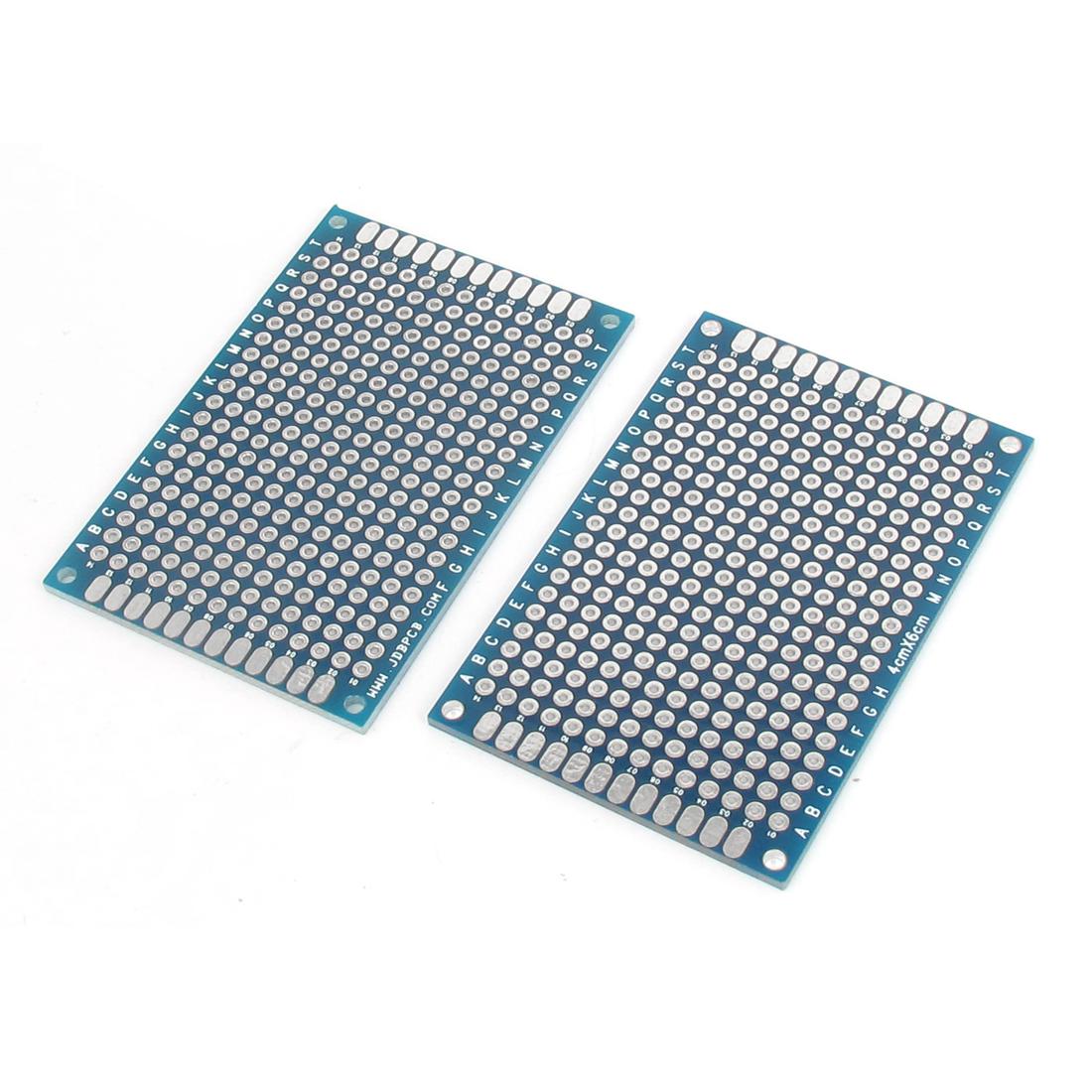 2pcs 4cm x 6cm Dual Sided Prototype Universal PCB Printed Circuit Board Breadboard