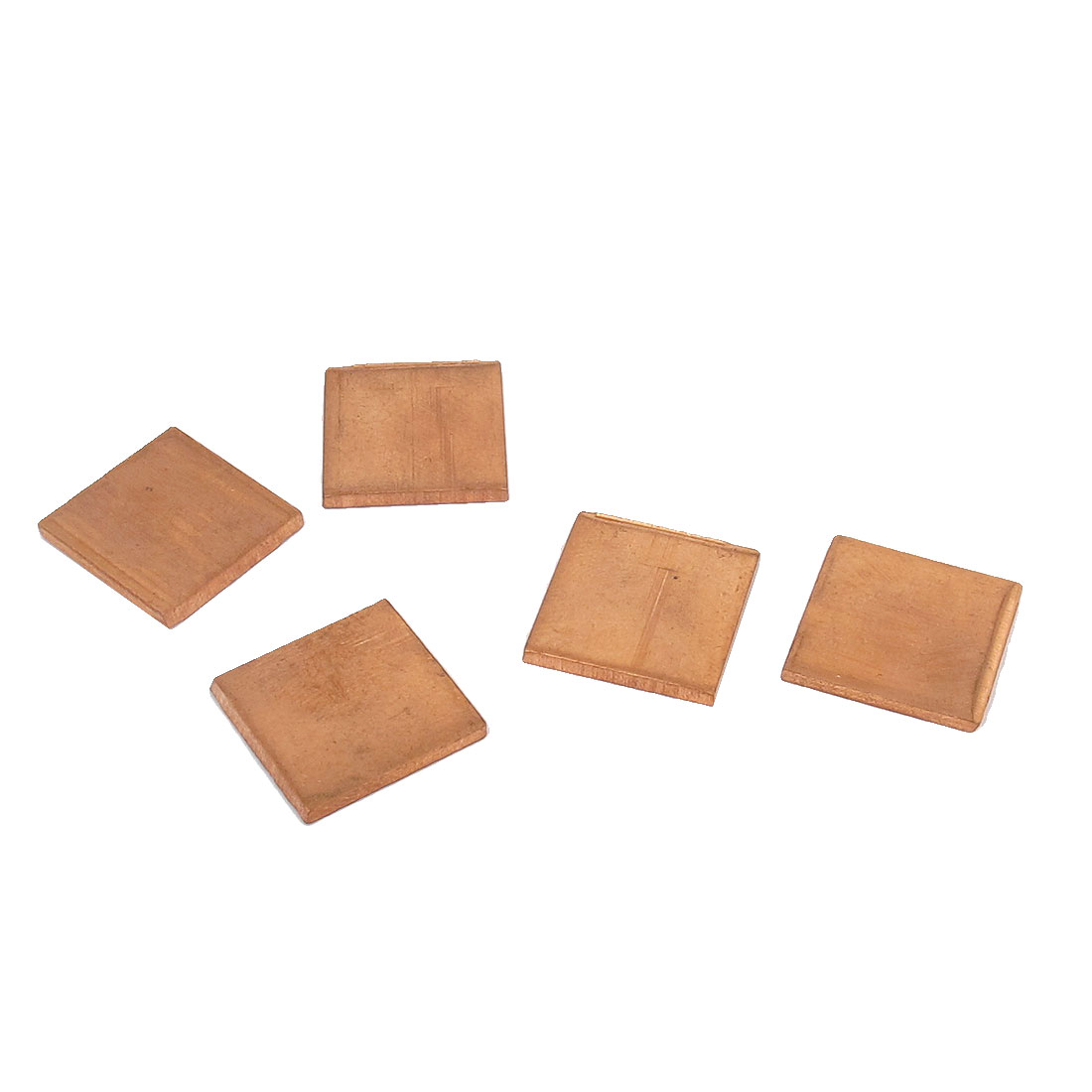 5pcs 15mm x 15mm x 1.2mm Copper Square Heatsink Thermal Pad Shim for PC Laptop CPU