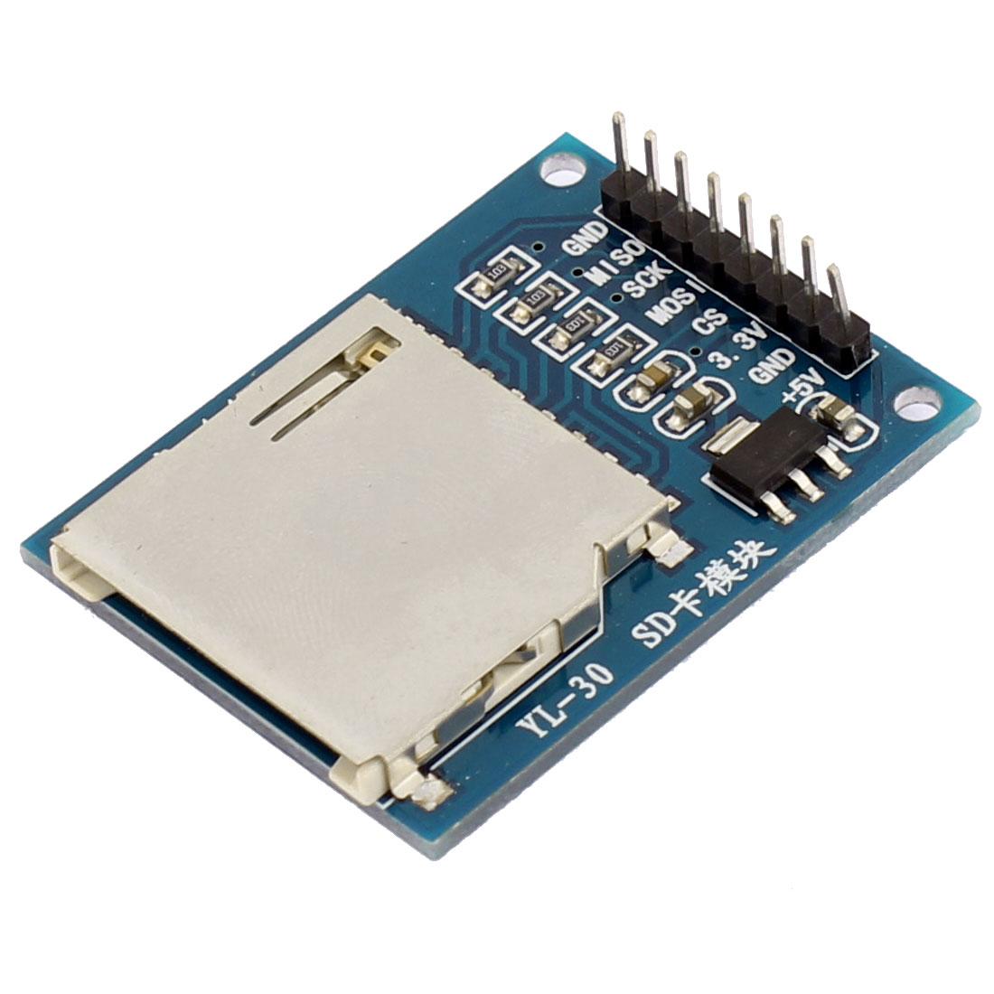 DC 3.3V/5V Read Write ARM MCU SD Card Module Slot Socket Reader
