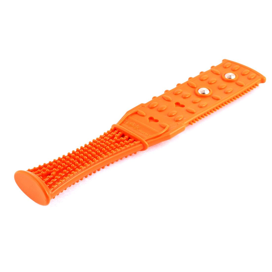 Regimen Fitness Body Neck Leg Fever Massage Pat Beat Plate Stick Orange
