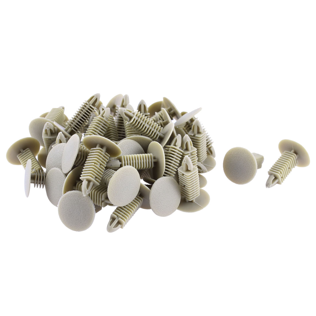 Car Fender Bumper Push Type Plastic Rivets Fastener Retainer Clips Gray 50 Pcs