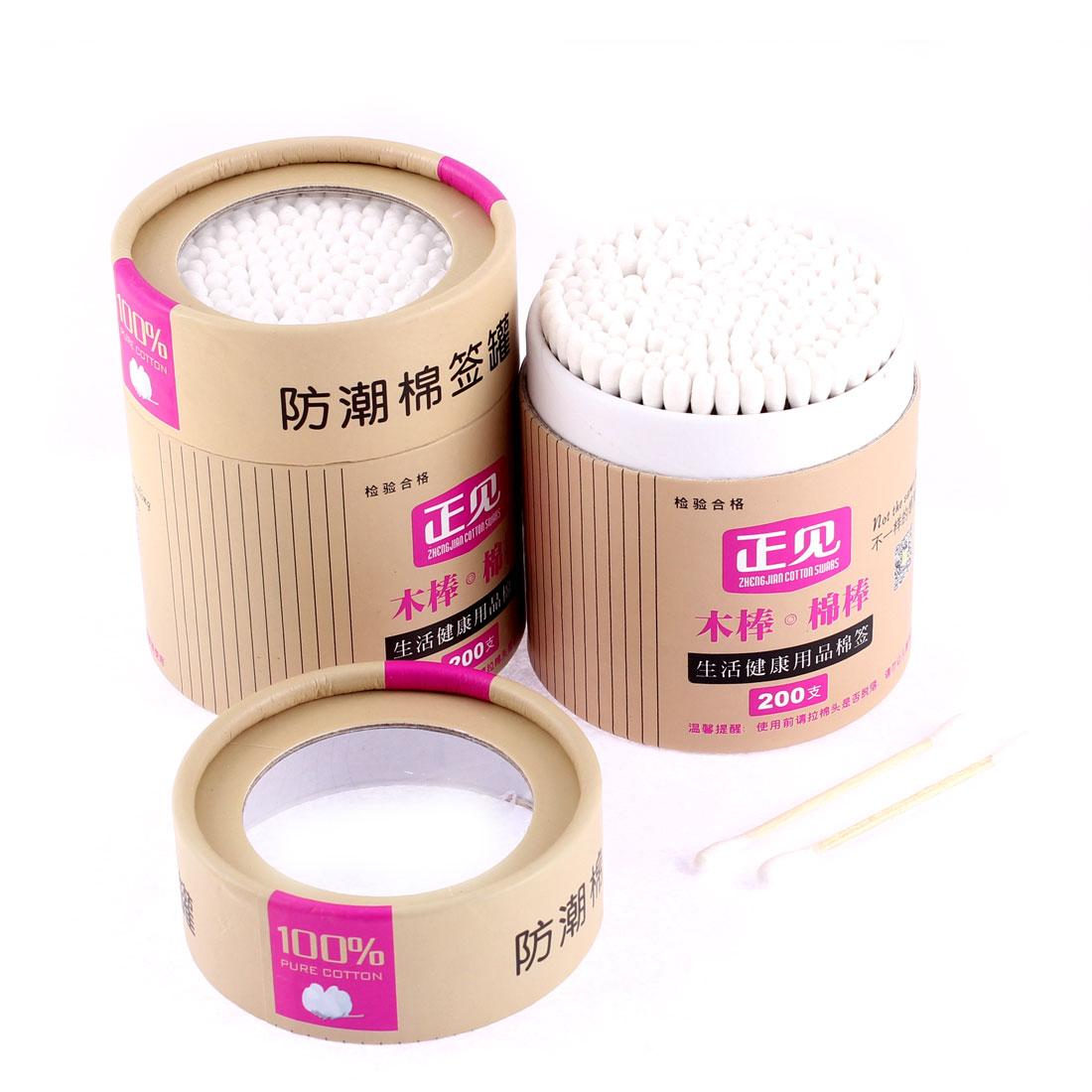 Make Up Cotton Swab Moistureproof Case Box Container Holder Storage 2pcs