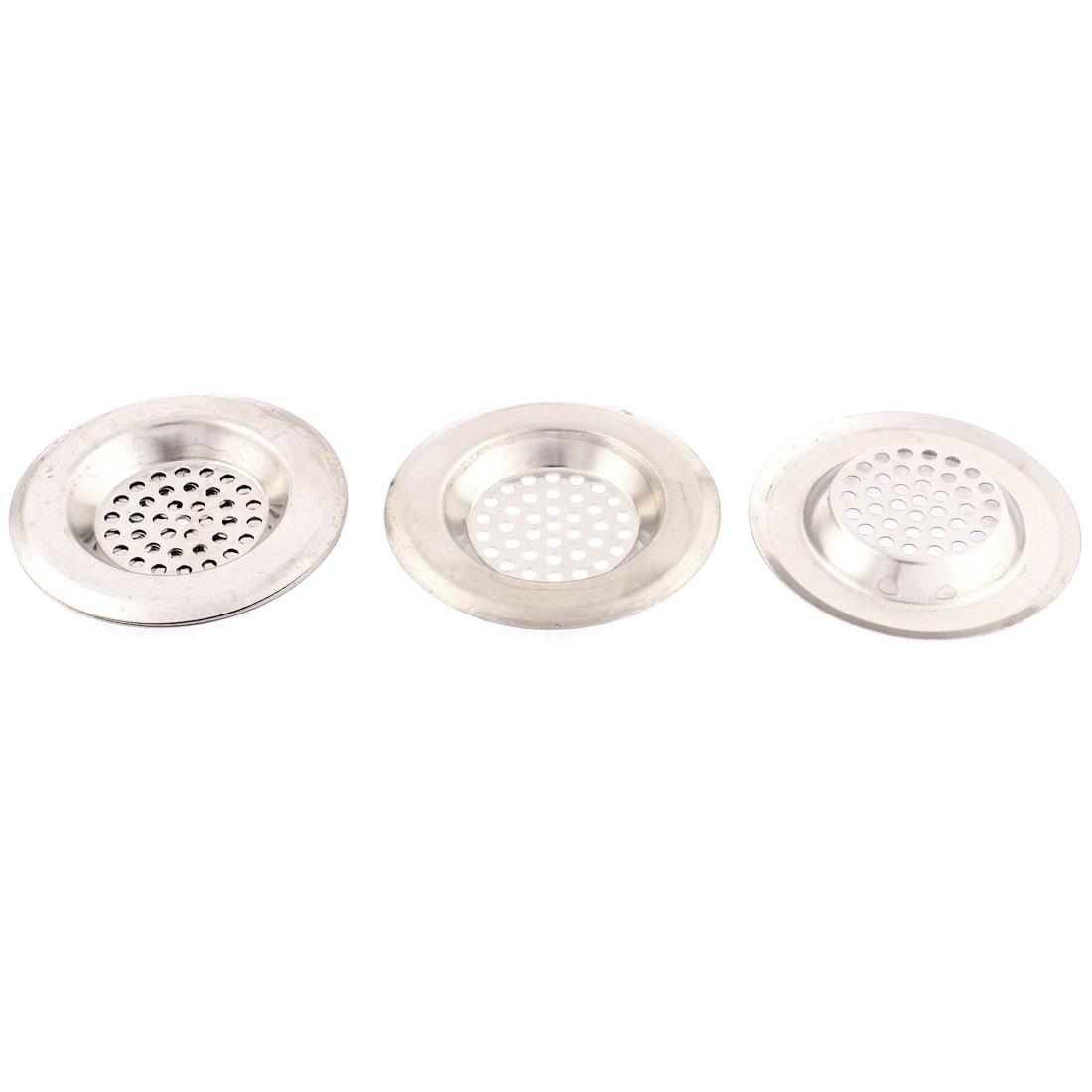Kitchen Bathroom Metal Sink Basin Hair Waste Filter Strainer Drainer Stopper 5pcs