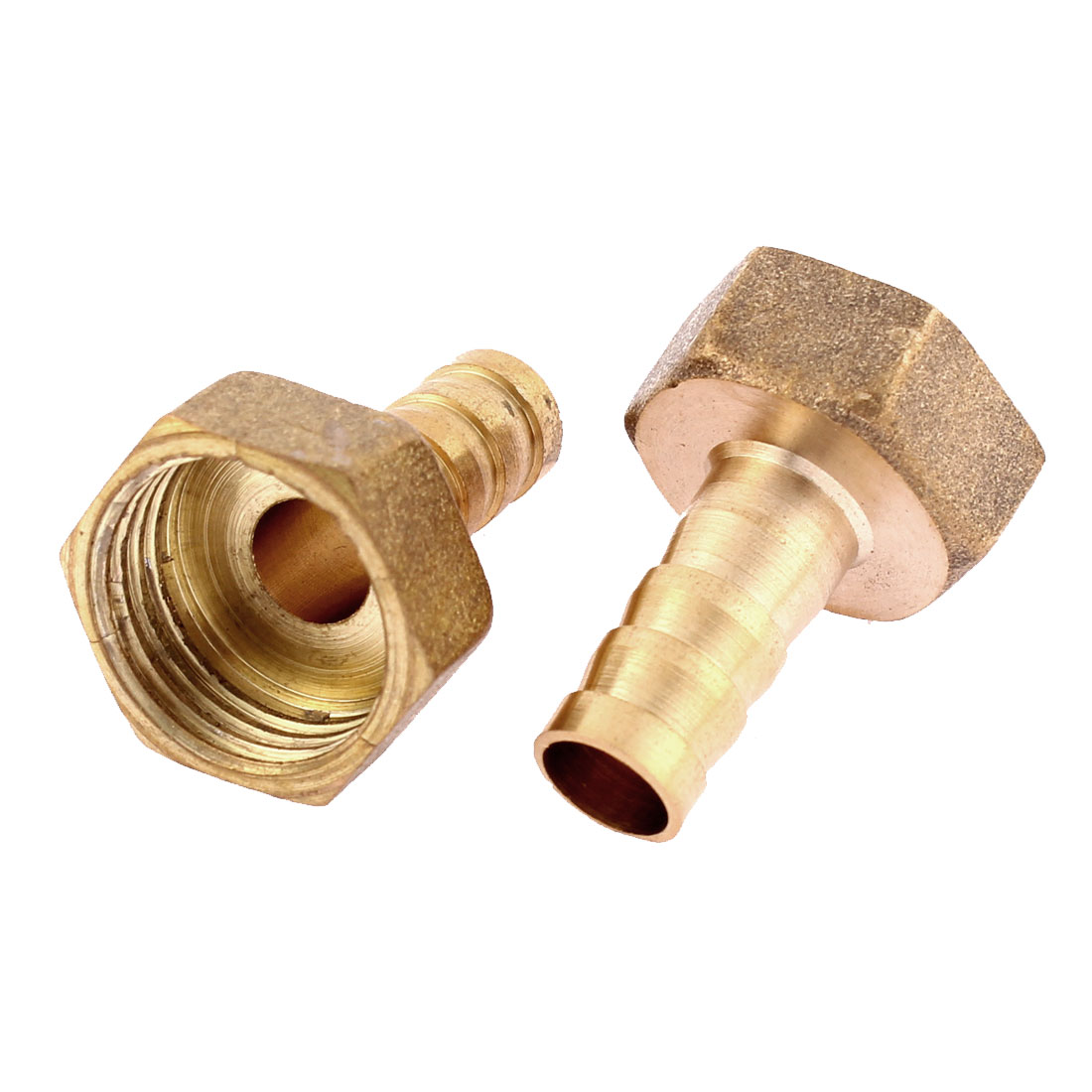 1/2BSP Female Thread 10mm Tubing Straight Hose Barb Fitting Quick Joint Connector 2pcs