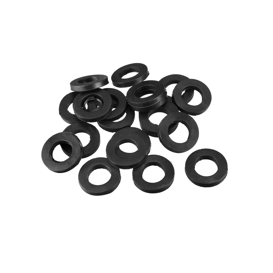 20pcs Rubber Spacer Flat Standoff Washer Insulation Metric M10 x 20mm x 3mm