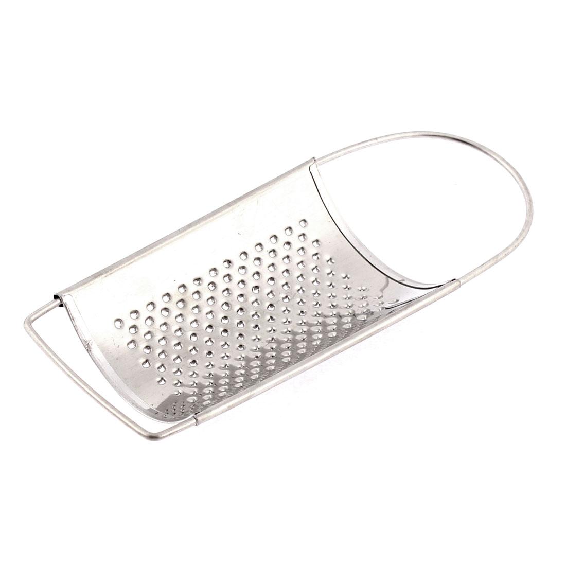 Kitchen Tool Handheld Stainless Steel Potato Fruit Garlic Ginger Curved Grater Shredder