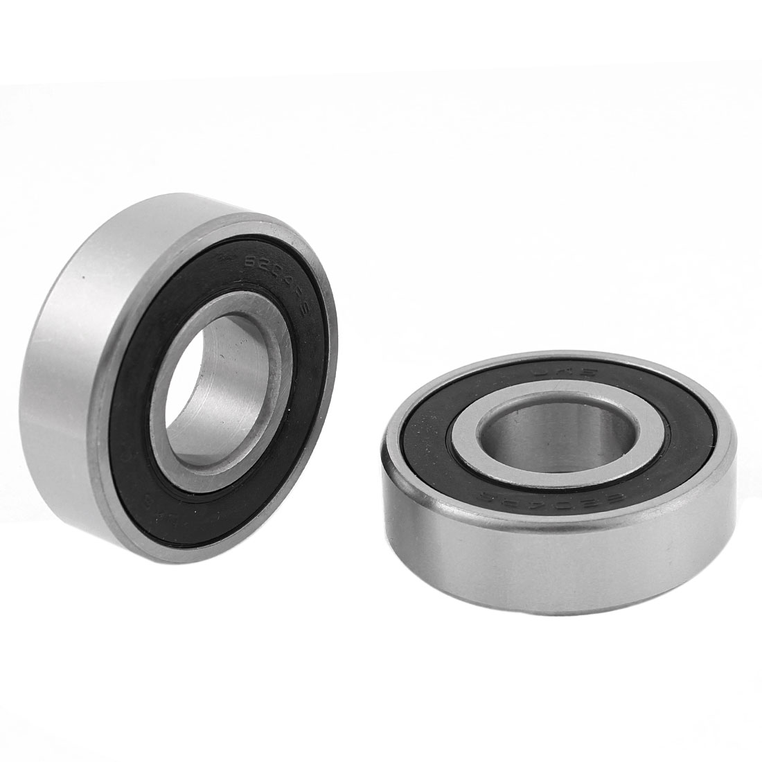 2pcs 6204RS Roller-Skating Deep Groove Ball Bearing 14mmx47mmx20mm for Electric Motor