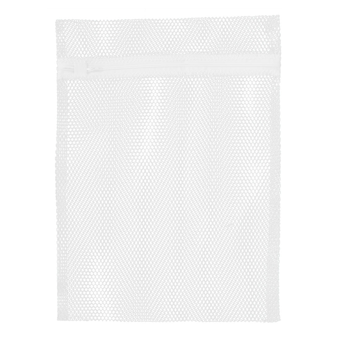 Zippered Socks Bra Clothes Laundry Washing Bags Net Mesh Holder White 40 x 30cm