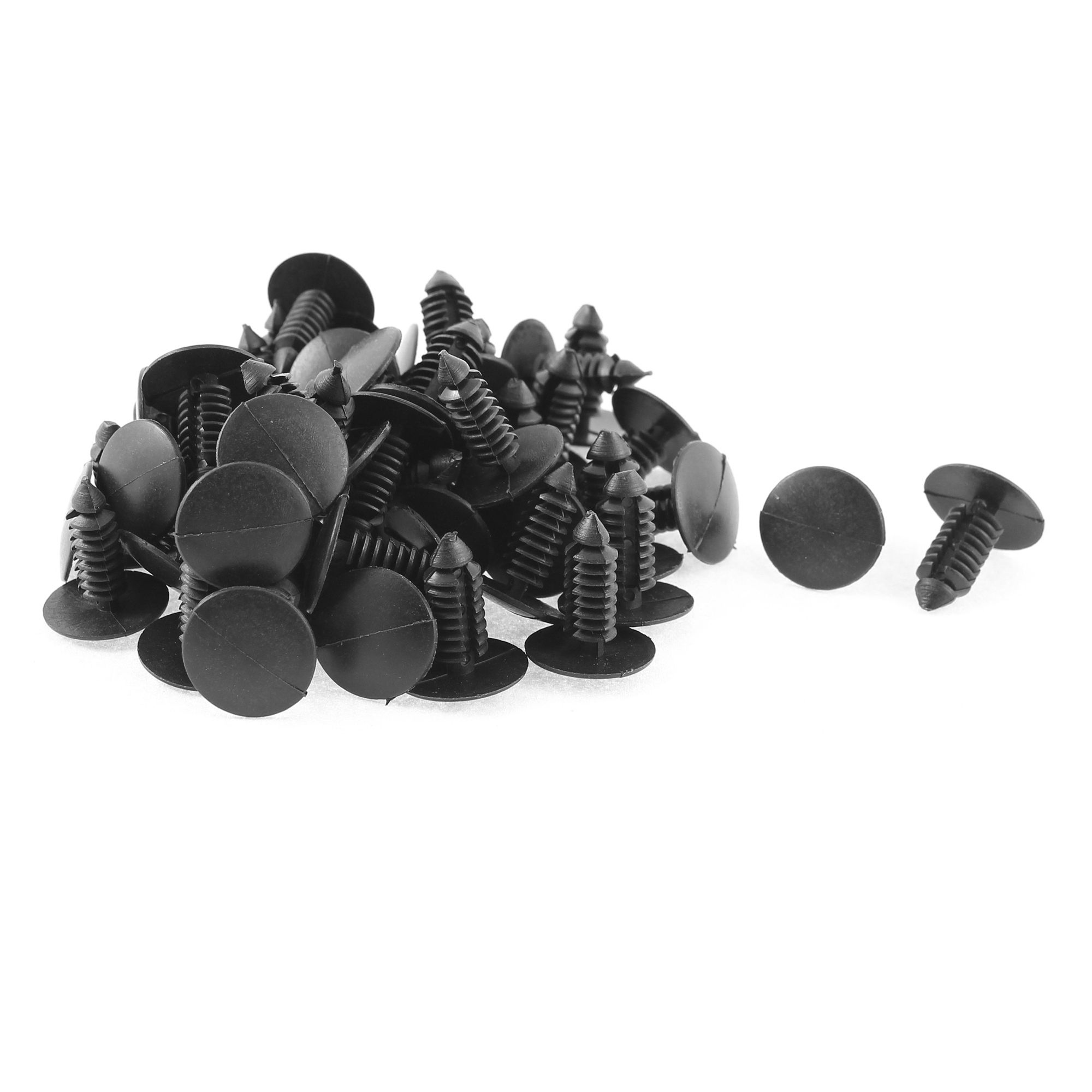50 Pcs Plastic Door Buckle Clasp Rivet Trim Mat Clip Black for Jeep