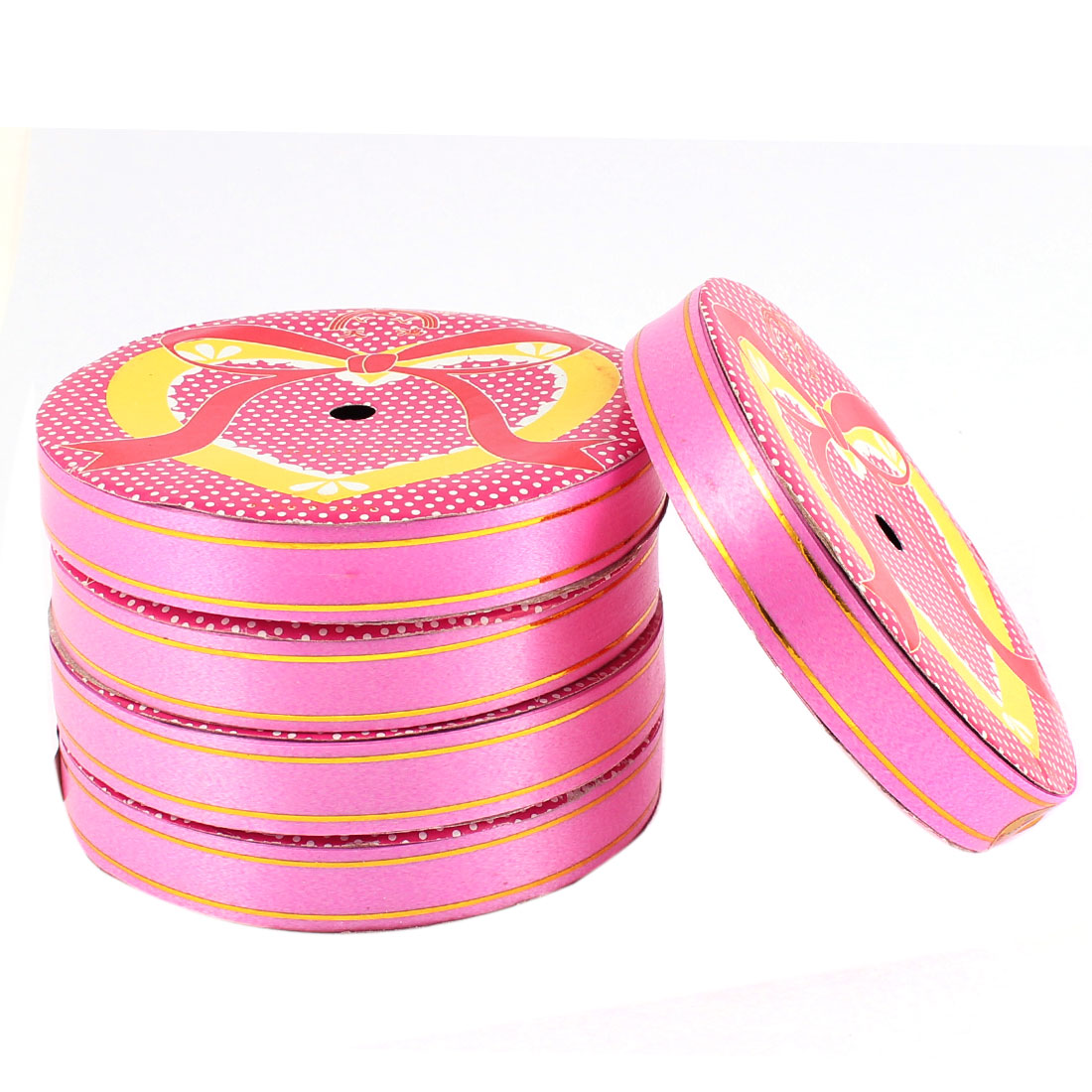 Wedding Festival DIY Gift Packing Ribbon Roll Tape 1.5cm Width 16 Yards 5pcs