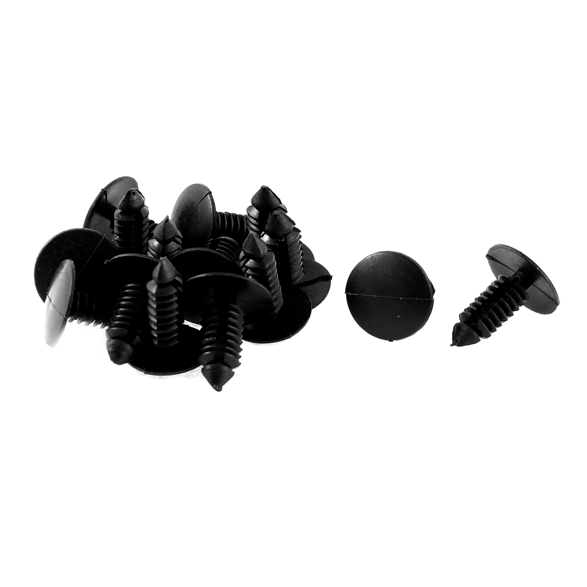 Car Splash Guard Defender Fastener Mat Clip Black 15 Pcs for Jeep