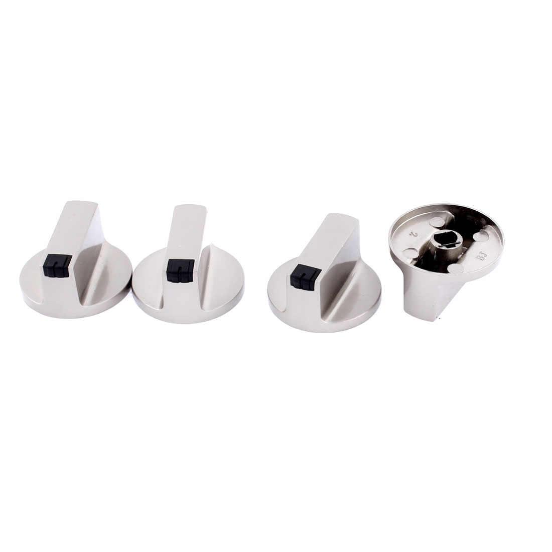 Oven Cooker Burner Gas Control Alloy Range Switch Knobs Silver Gray 4 Pcs