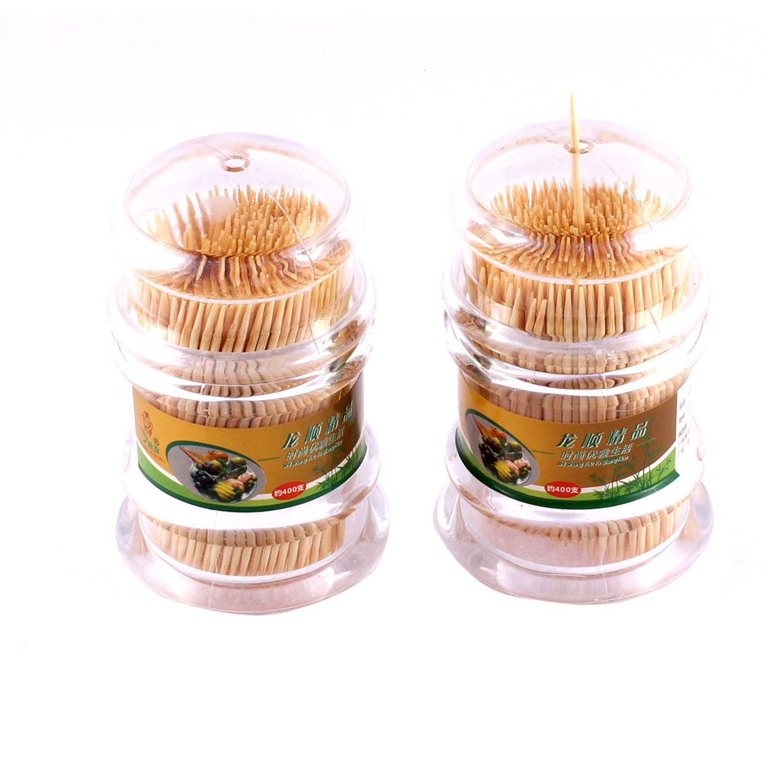 Household Dining Room Plastic Case Box Holder Storage Dispenser 2pcs w Toothpick