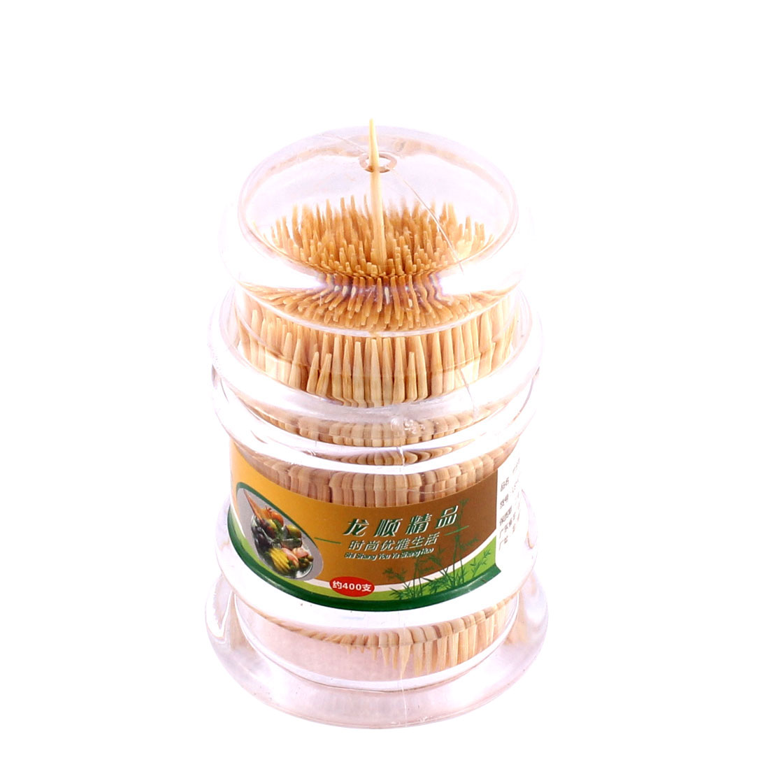 Home Restaurant Clear Plastic Case Box Toothpick Holder Container w Toothpicks