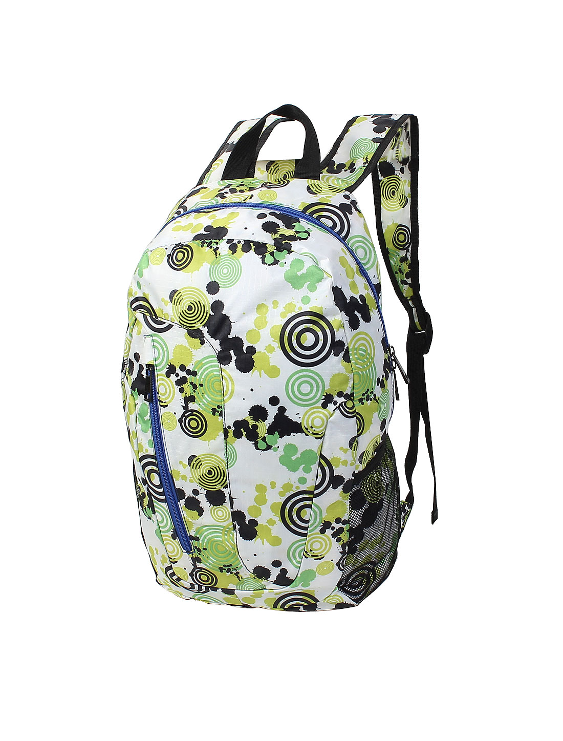 Colorful Circles Print Canvas Travel Camping Hiking Backpack School Shouder Bag