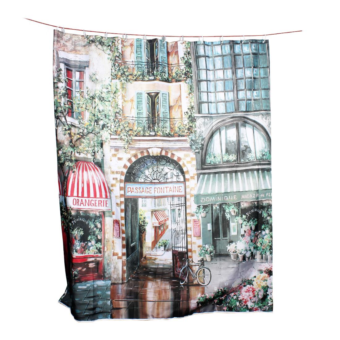 "Colorful Garden Print Home Decor Shower Bath Curtain w 12 Hooks Rings 71""x79"""
