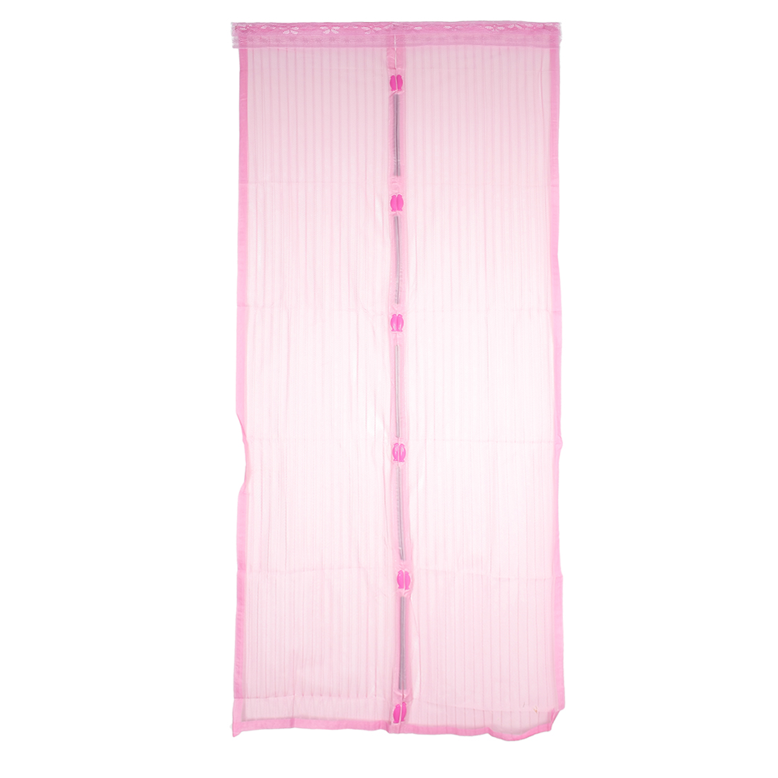 Magnetic Fastening Magic Curtain Hands Free Fly Screen Door Pink