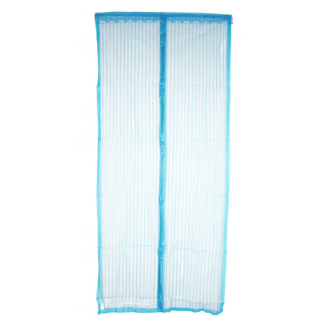 Magnetic Fastening Curtain Hands Free Fly Insect Screen Door Mesh Blue