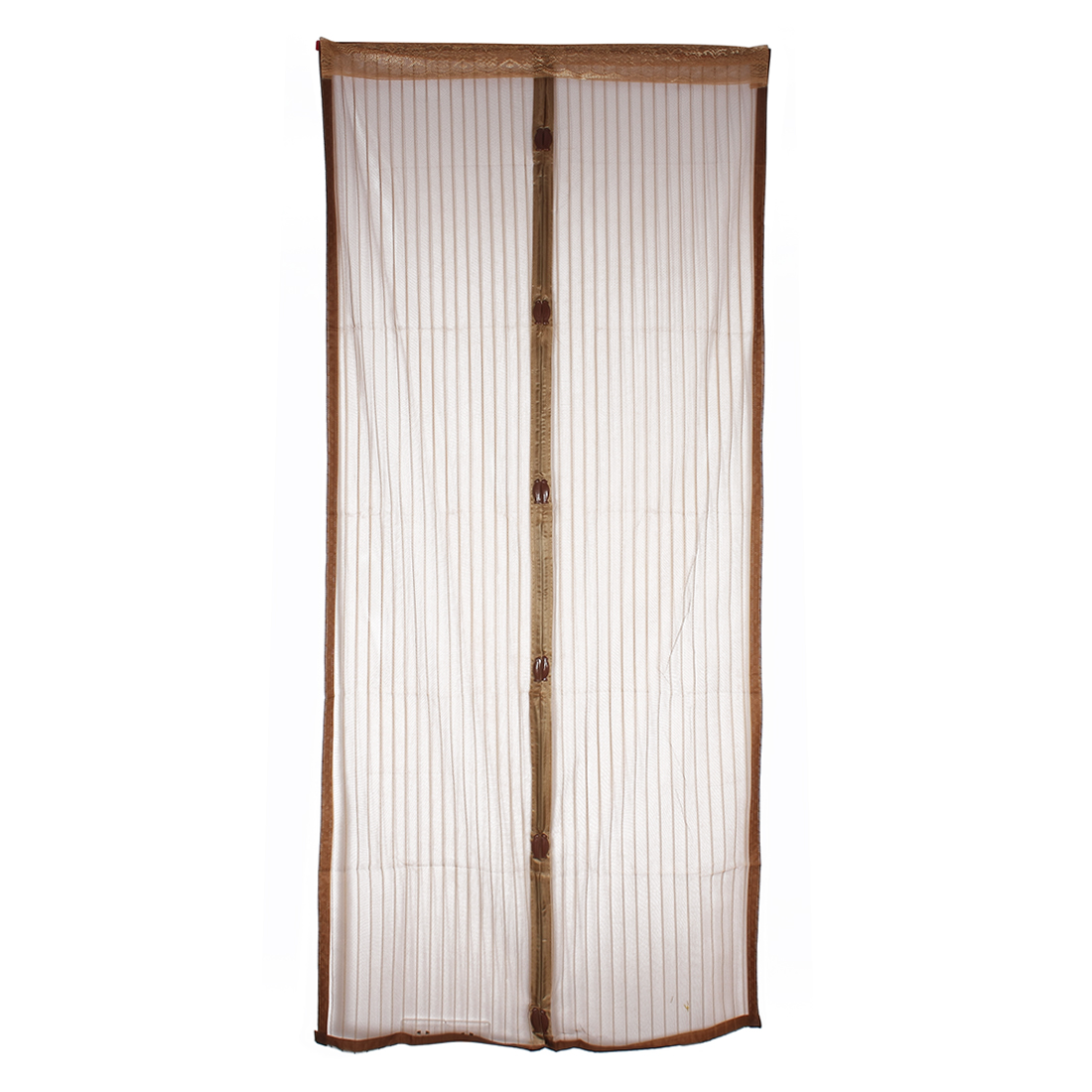 Snap Screen Door Easy Fit Magnetic Insect Fly Curtain Mozzy Netting Brown