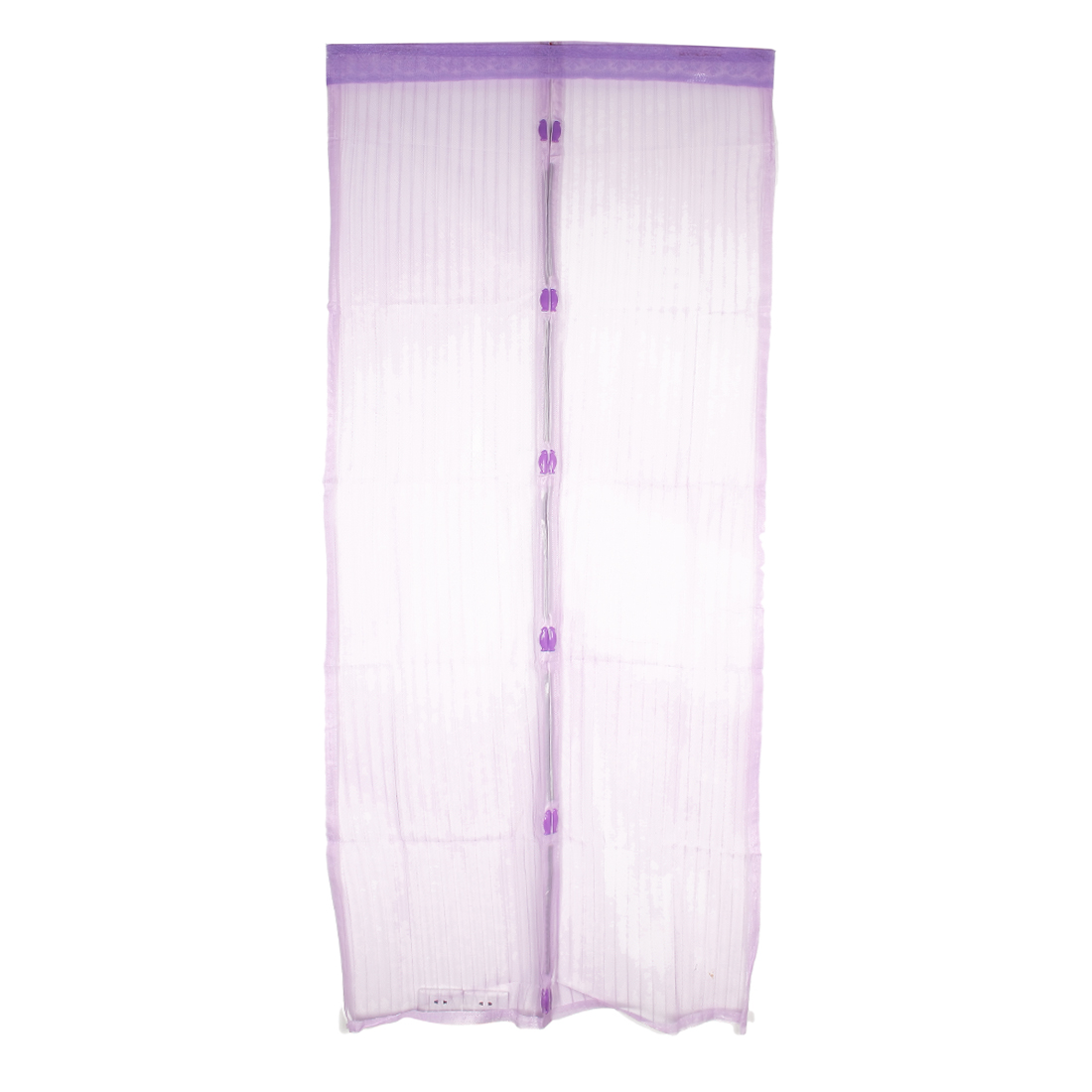 Magnetic Fastening Magic Curtain Hands Free Fly Screen Door Purple