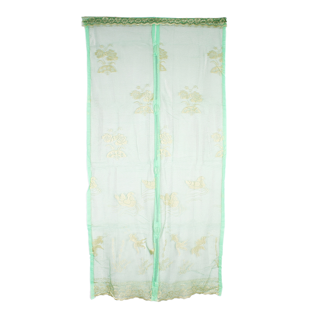 Flower Insect Fly Mosquito Net Mesh Screen Door Dark Green