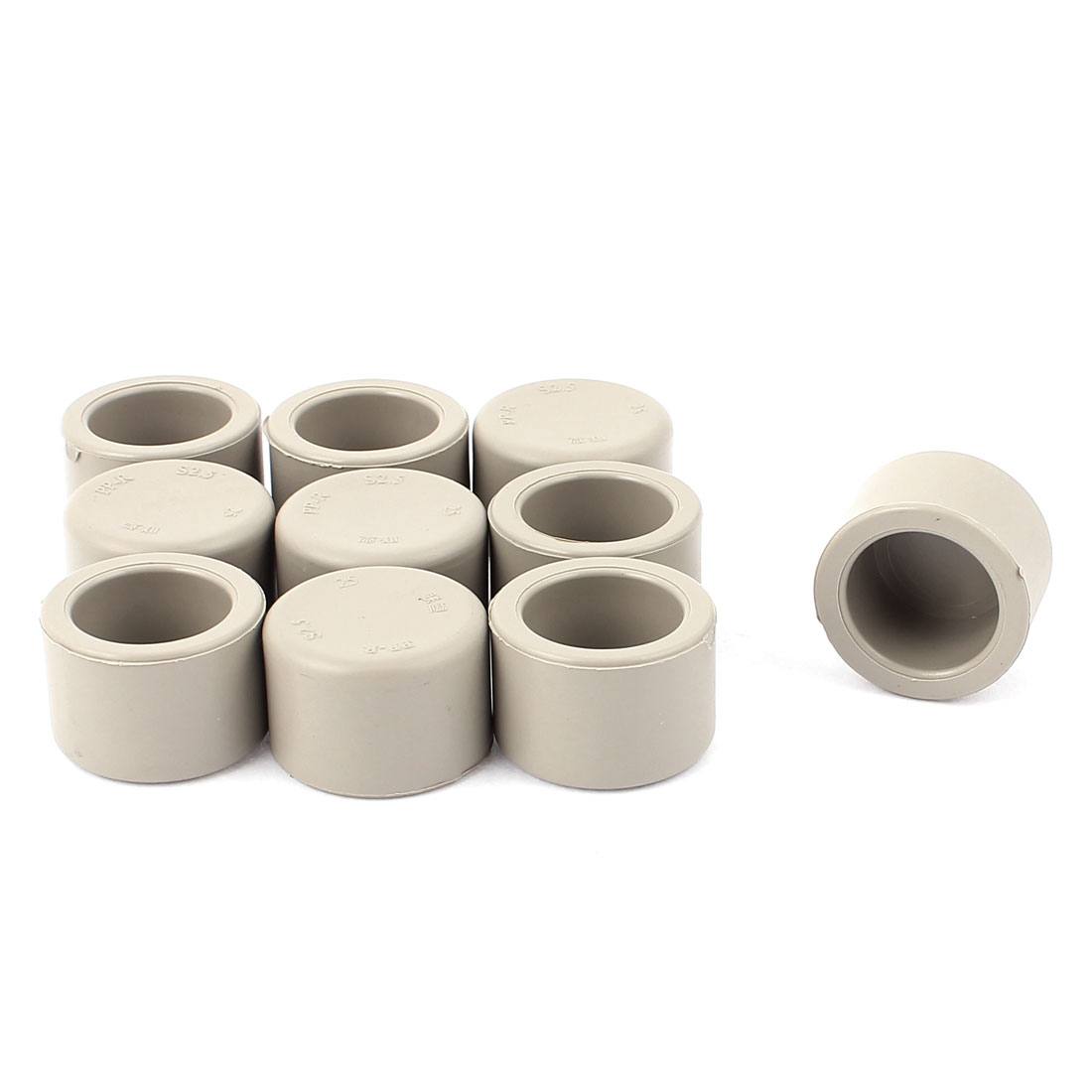 23.8mm Inner Dia PPR Round End Pipe Cap Cover 10pcs for Water Pipe Fittings