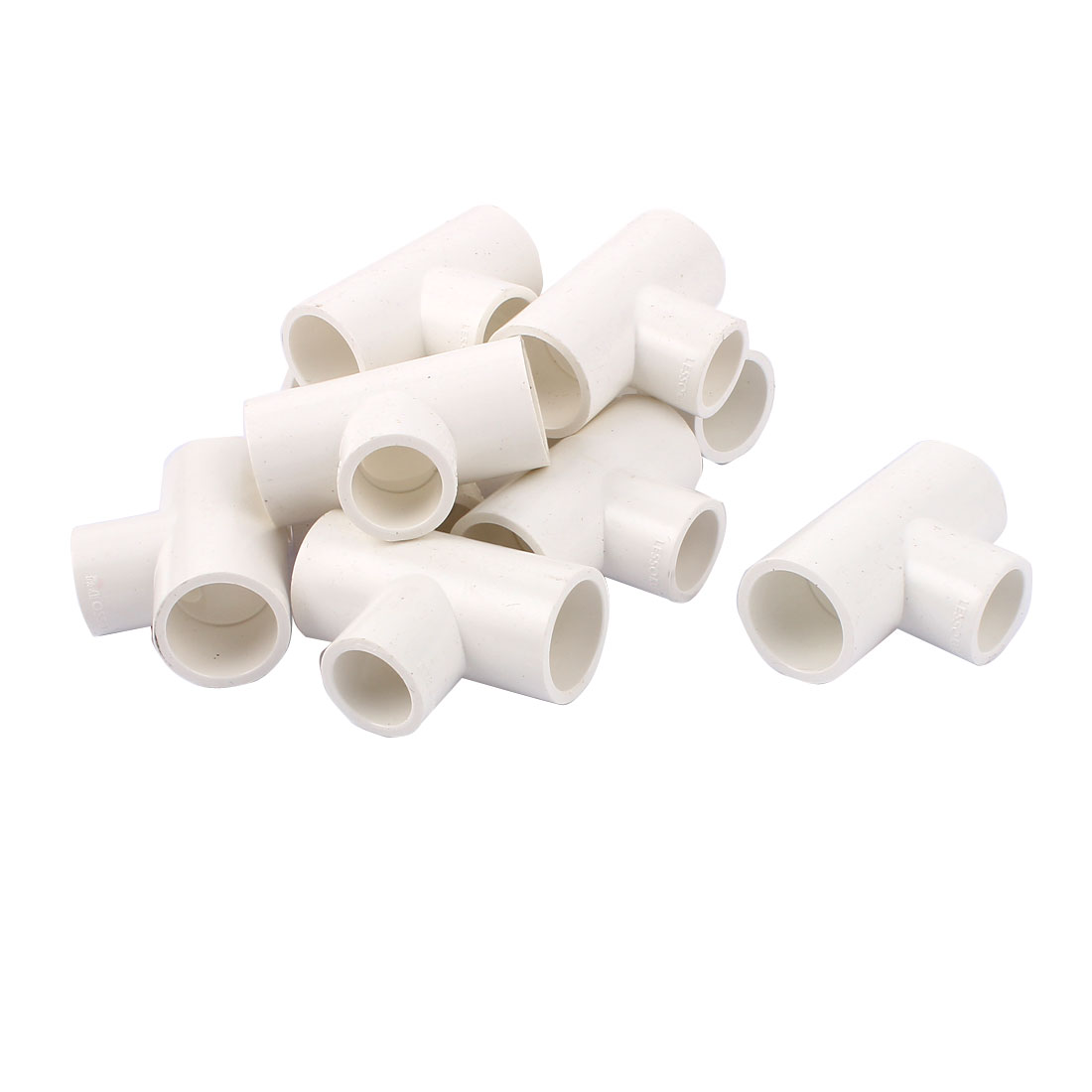 25mmx20mm Inner Dia T Type 3 Way Water Liquid PVC Pipe Fitting Connector 10pcs