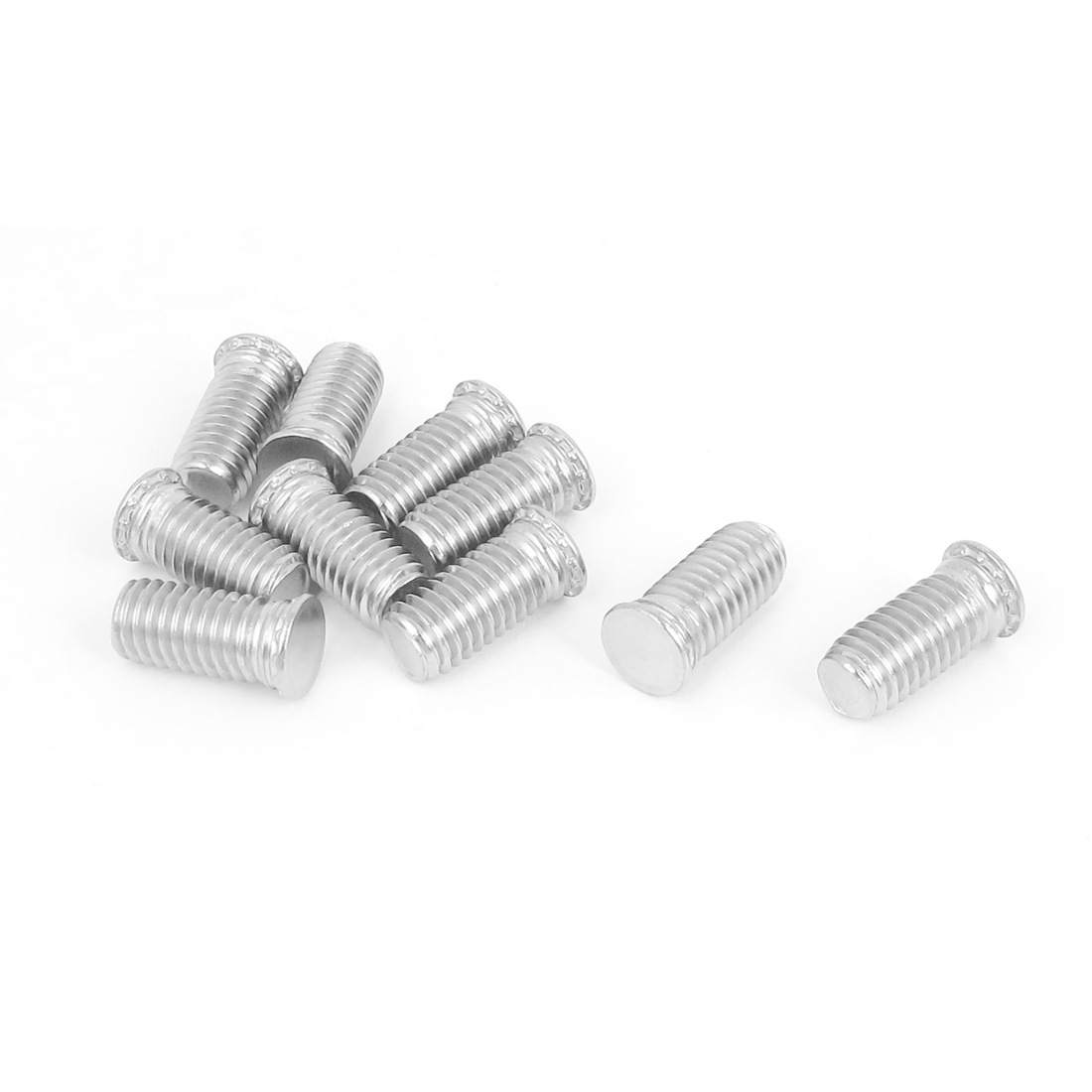M8x18mm Flush Head Stainless Steel Self Clinching Threaded Studs Fastener 10pcs
