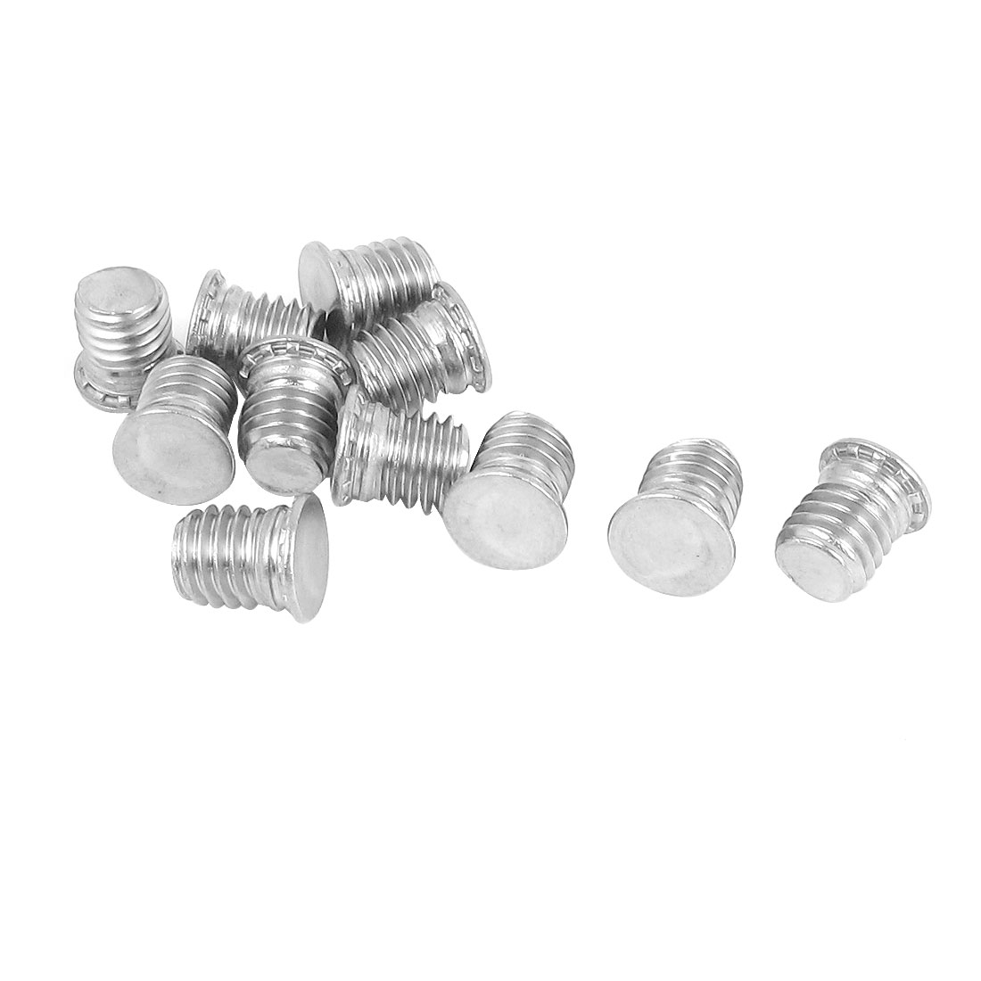M8x10mm Flush Head Stainless Steel Self Clinching Threaded Studs Fastener 10pcs