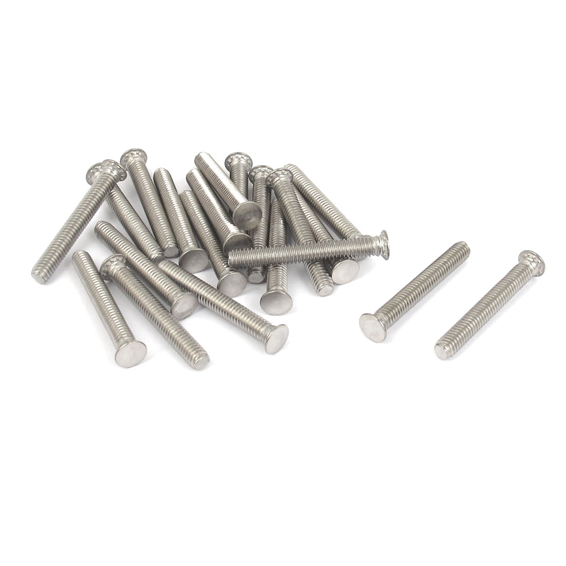 M4x30mm Flush Head Stainless Steel Self Clinching Threaded Studs Fastener 20pcs