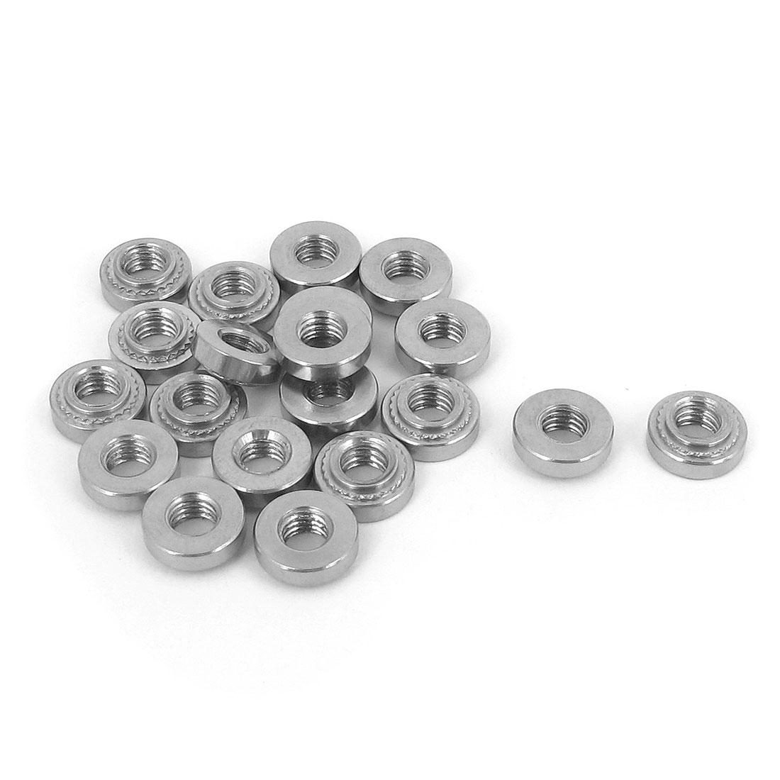 M4 Stainless Steel Self Clinching Rivet Nut Fastener 20pcs for 1mm Thin Plates