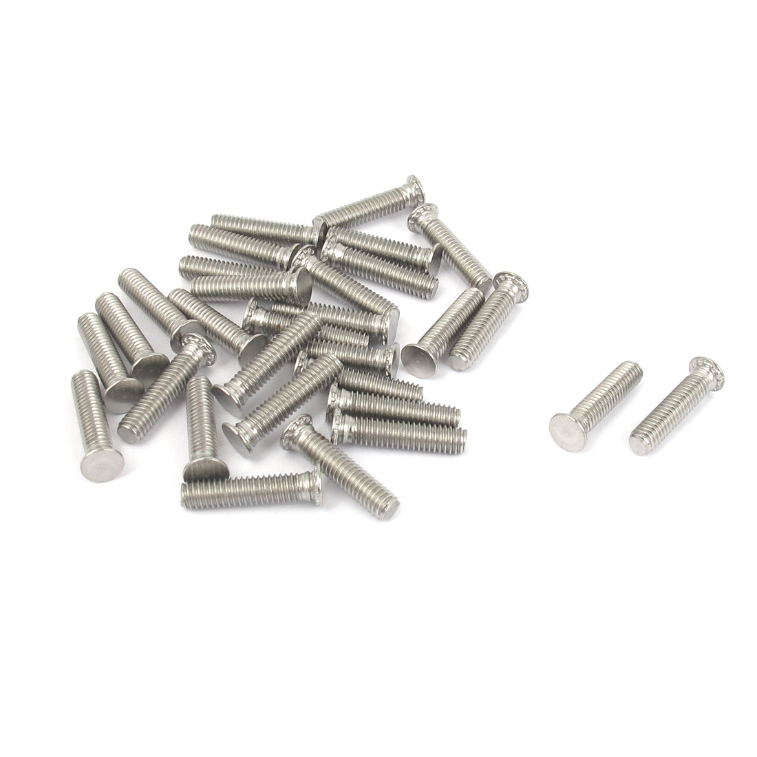 M4x18mm Flush Head Stainless Steel Self Clinching Threaded Studs Fastener 30pcs